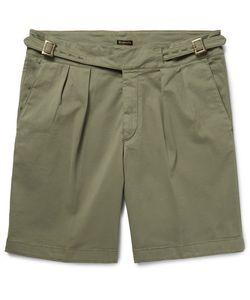 RUBINACCI | Manny Pleated Stretch-Cotton Twill Shorts