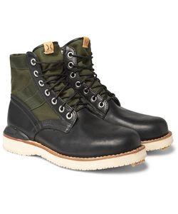 Visvim | Folk Canvas-Panelled Leather Boots