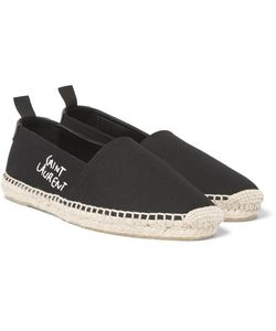 Saint Laurent | Embroidered Canvas Espadrilles