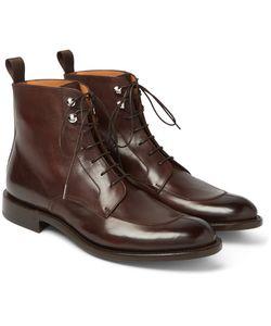 O'Keeffe | Algy Split-Toe Weatherproof Polished-Leather Boots