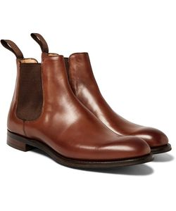 CHEANEY | Godfrey Burnished-Leather Chelsea Boots