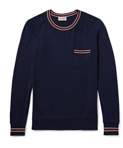 Moncler | Slim-Fit Contrast-Trimmed Cotton Sweater