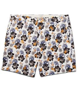 Club Monaco | Baxter Embroidered Printed Linen And Cotton-Blend Shorts