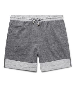 HELBERS | Linen-Trimmed Mélange Loopback Cotton-Jersey Shorts