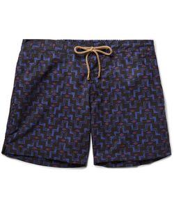 THORSUN | Titan Slim-Fit Mid-Length Printed Swim Shorts