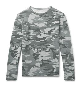 Officine Generale | Camouflage-Print Loopback Cotton-Jersey Sweatshirt