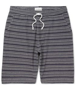 Oliver Spencer | Weston Striped Cotton-Jersey Shorts