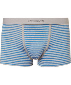 ZIMMERLI | Striped Mélange Stretch-Cotton Boxer Briefs
