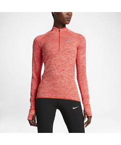 Nike | Женская Беговая Футболка С Длинным Рукавом И Половинной Молнией Sphere