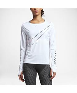 Nike | Женская Беговая Футболка С Длинным Рукавом Breathe City