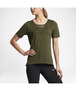 Nike | Женская Беговая Футболка С Коротким Рукавом Zonal Cooling Relay Mesh