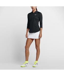 Nike | Теннисная Футболка С Половинной Молнией И Рукавом 3/4 Court Dry