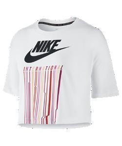 Nike | Женская Футболка International Drip Crop