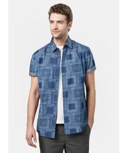 OSTIN | Рубашка С Indigo Принтом