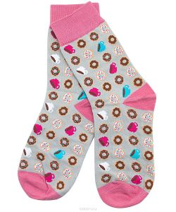 Kawaii Factory | Носки Пончики С Чашками Цвет 2000000220079.