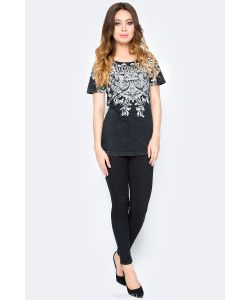 Affliction | Футболка Flourelle Scoop Neck Цвет Aw14912. Размер Xl