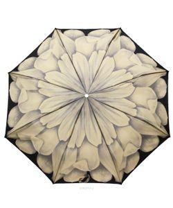 Pasotti | Зонт Жеский Механический 3 Сложения Черный Серый