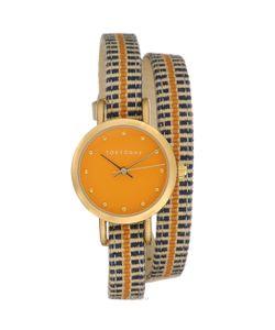 Tokyobay | Часы Женские Наручные Obi Цвет Оранжевый Синий Бежевый. T233-Or