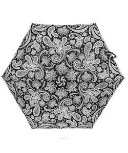 Zest | Зонт Женский Механический 5 Сложений Цвет Черный Белый. 25569-1191