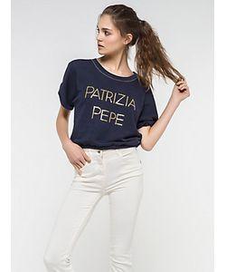 Patrizia Pepe | Толстовка С Коротким Рукавом С Вышивкой Пайетками