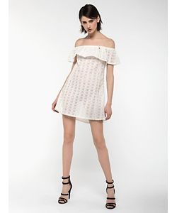 Patrizia Pepe | Короткое Платье Из Кружева С Шитьем