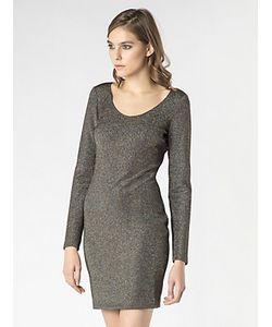 Patrizia Pepe | Короткое Платье Из Вязанотканого Полотна С Люрексом