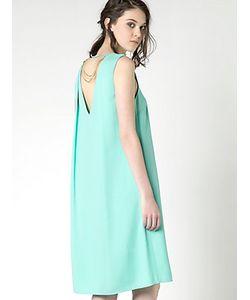Patrizia Pepe | Платье Из Вискозного Крепа С Кроем В Виде
