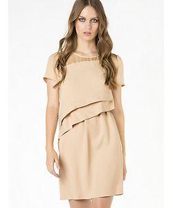 Patrizia Pepe | Короткое Платье Из Вискозного Крепа С Драпировкой