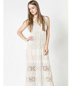 Patrizia Pepe | Длинное Платье Из Хлопкового Муслина С Вышивкой