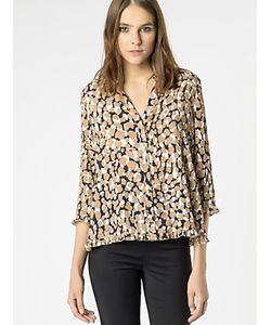 Patrizia Pepe   Рубашка С Длинным Рукавом Из Ткани Смешанного Состава