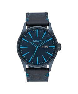 Nixon | Кварцевые Часы Sentry Leather All Dark Bluee