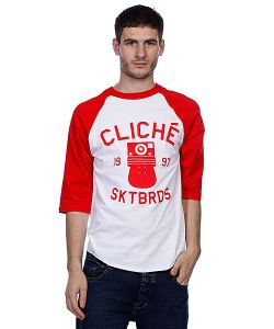 Cliche | Футболка Instant Raglan White/Red
