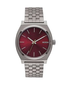 Nixon | Кварцевые Часы Time Teller Gunmetal/Deep Burgundy
