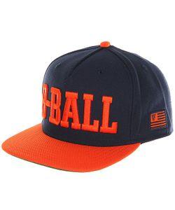 K1X   Бейсболка С Прямым Козырьком B Ball Snapback Cap Navy/Flame