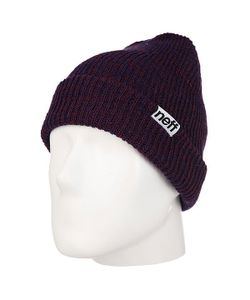 Neff | Шапка Fold Heather Beanie Navy/Maroon