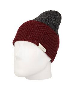 Neff | Шапка Носок Duo Beanie Maroon Heather/Charcoal Htr