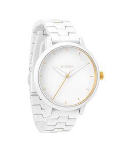 Nixon | Часы Женские Kensington All White/Gold