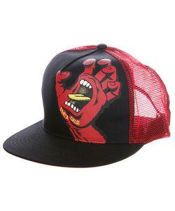 Santa Cruz | Бейсболка С Сеткой Screaming Hand Trucker Black/Red