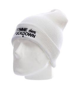 Ssur | Шапка Fuckdown Beanie White