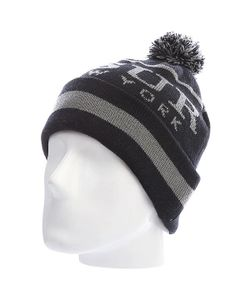 Ssur | Шапка С Помпоном New York Pom Beanie Charcoal/Black