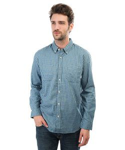 Quiksilver | Рубашка В Клетку Fortenightsls Indian Teal Gingham