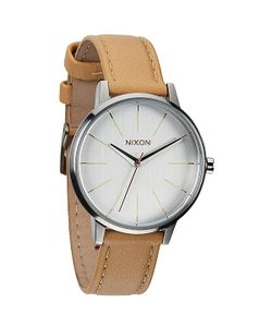 Nixon | Часы Женские Kensington Leather Natural/Silver