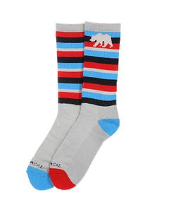 Nor Cal | Носки Высокие Stripe Sock Blue Red Stripe