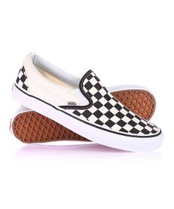 Vans | Слипоны U Classic Slip-On Blk Whtchckerbo Black