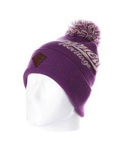 Запорожец | Шапка С Помпоном Logo Beanies Purple