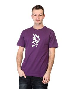 Pyromaniac | Футболка Flame Skull Purple