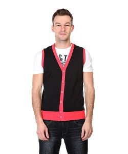 Urban Classics | Жилетка Jersey Button Vest Black Infrared