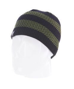 Fallen | Шапка Buffalo Striped Knits Beanie Olive/Black