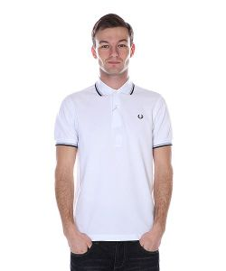 Fred Perry | Поло Twin Tipped Shirt White