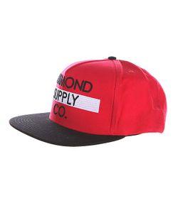 Diamond | Бейсболка Bar Logo Snapback Red/Black